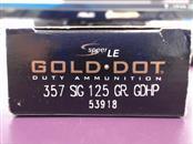 """Speer LE """"Gold Dot"""" - Duty Ammunition - 357 SIG"""